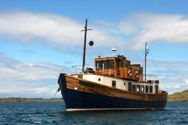 The Glen Massan and its sister ship offer cruises around Argyle and the Hebrides that attract people from all over the world