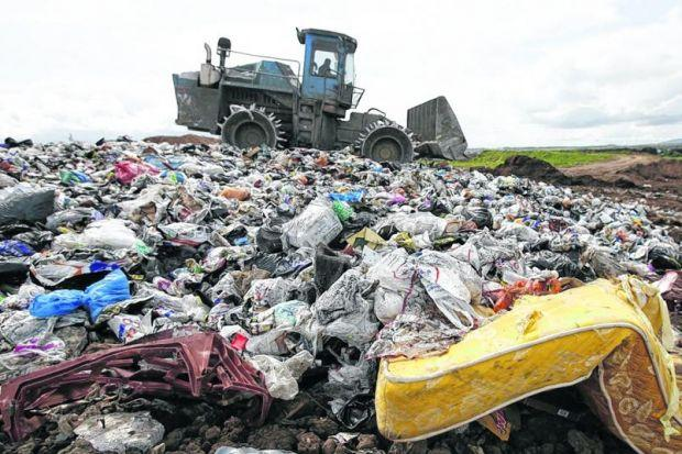 WASTE LAND: Councils have made big cuts in use of landfill sites but the Green Party fears their legacy could continue to haunt us. Picture: Colin Mearns