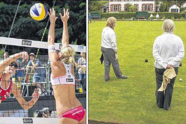 ALL CHANGE: The serene past-time of bowling could be replaced in Edinburgh by the more lively and glamorous Olympic sport of beach volleyball if the plans get the go-ahead.