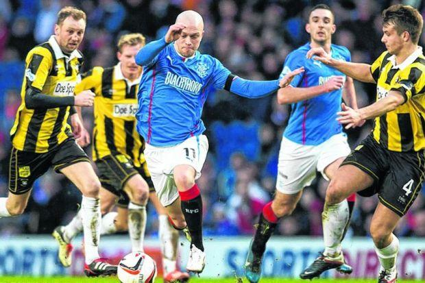 Nicky Law and Lee Wallace have performed consistently well for Ally McCoist's side. Picture: Rob Casey/SNS