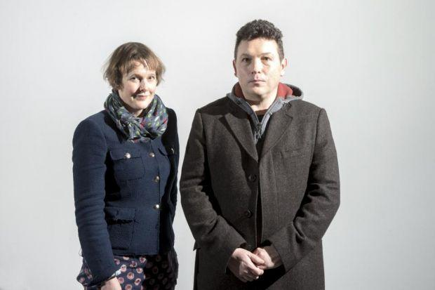 STEPS IN RIGHT DIRECTION: Jon Thomson and Alison Craighead are a real-life partnership. Picture: Alan Richardson