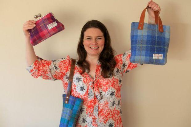 LUXURY LINES: Pauline Lothian, who has always loved making things and wanted to be a Blue Peter presenter as a child, sources the cloth for her creations from the Outer Hebrides. Picture: Steve Cox