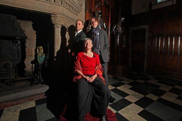 ROYAL ANNOUNCEMENT: Laurie Sansom, back left, Rona Munro and Sir Jonathan Mills announce the plays at