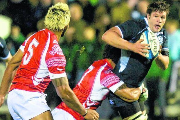 Allister Hogg in action for Scotland against Tonga in 2009, the last year he featured for the national side. Picture: SNS