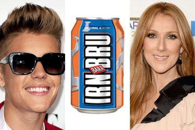 Ban Bieber and Dion: MEP suggests we should shun Canadian popstars over Irn Bru