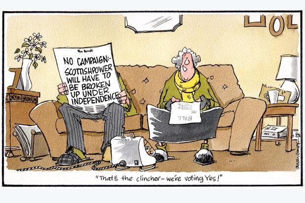 Camley's Cartoon: on ScottishPower rejects post-indy break up claim by Spanish paper