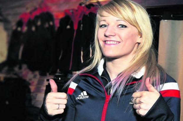 Elise Christie is one of Britain's top medal hopes for the Winter Olympics in Sochi. Picture: Getty Images