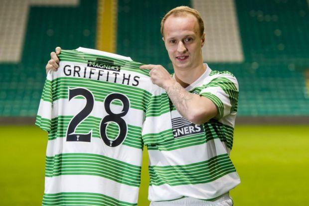 Leigh Griffiths appreciates what is expected of him as he is unveiled as a Celtic player last night. Picture: SNS