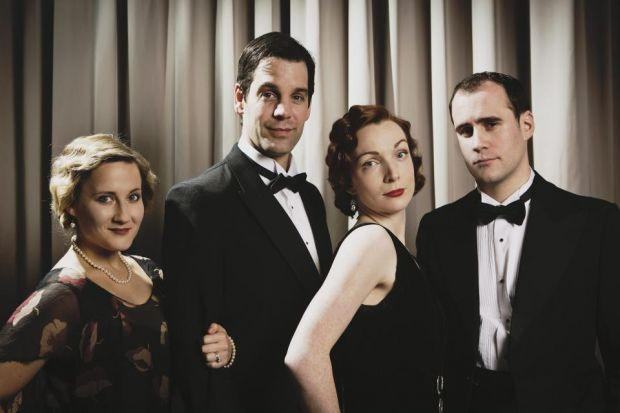 ROMANTIC COMEDY: Mily Woodward, John Hopkins, Kirsty Besterman and Ben Deery star in Private Lives, which is directed by Martin Duncan.
