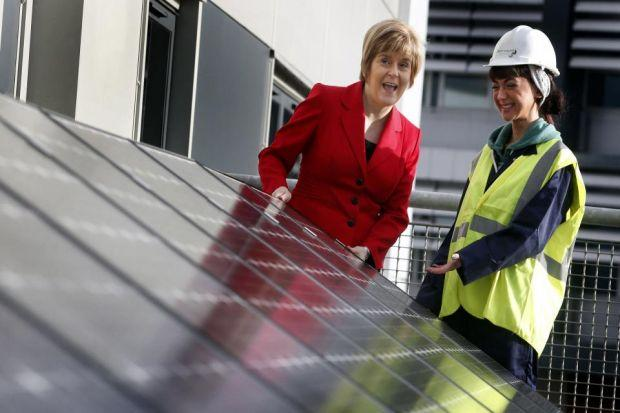 TRAINING BOOST: Nicola Sturgeon talks to student Danah O'Brien at West College Scotland. Picture: PA