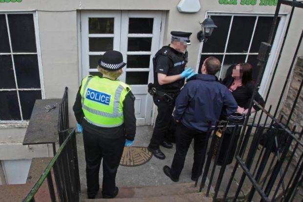 INVESTIGATION: Police at the scene of a sauna in Edinburgh.