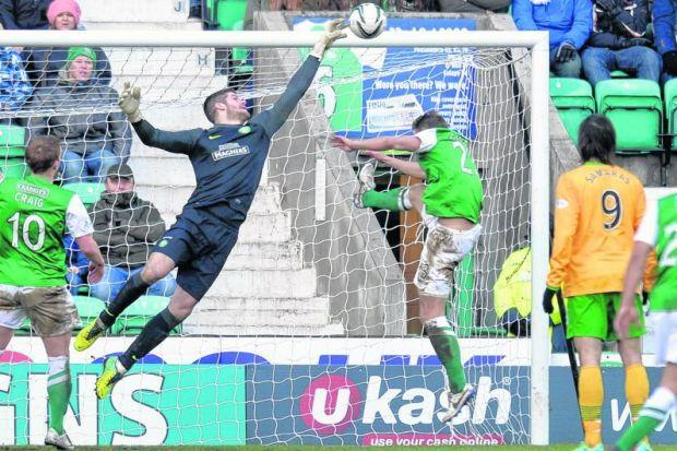 Fraser Forster has not conceded in 1035 minutes of league football and is closing in on the record held by Edwin van der Sar. Picture: SNS