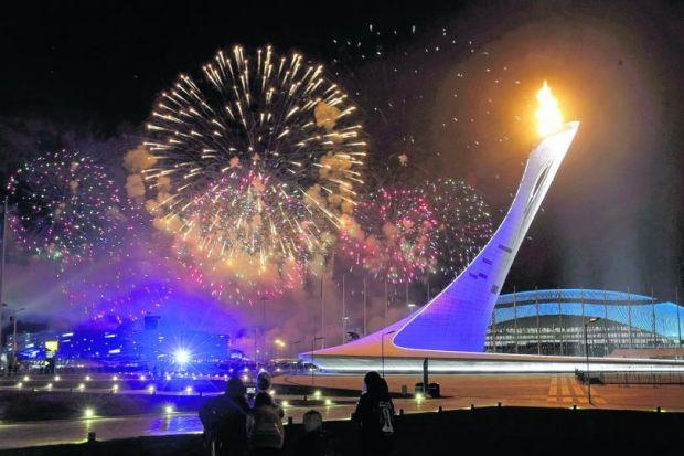 The extravagance of Sochi's Winter Olympics does distract from more serious matters surrounding the Games. Picture: Ints Kalnins/Reuters