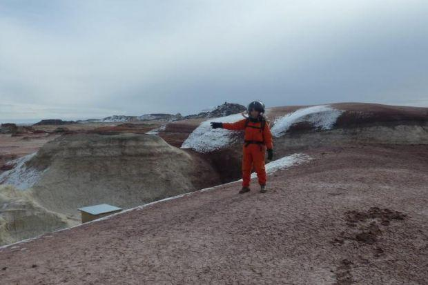 Elif takes a walk on the Martian surface - or rather, the Utah desert
