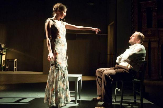 FIERCELY INTENSE: Louise Brealey as Miss Julie and Keith Fleming as John  in a simmering exploration of c