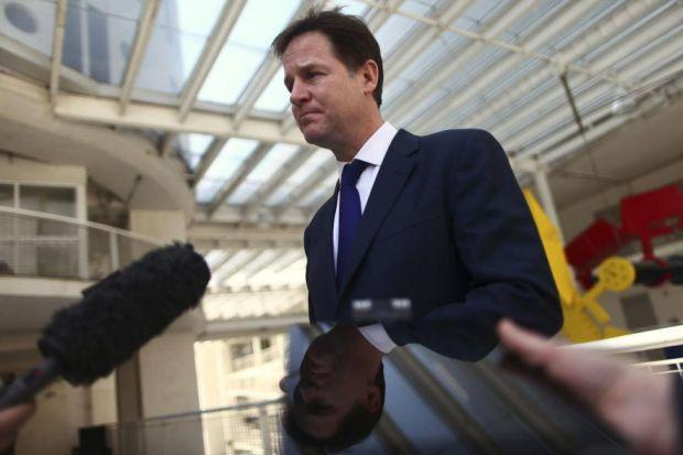 NICK CLEGG: Said Labour had reckless attitude to spending.