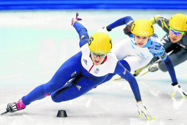 Scotland's Elise Christie was impressive in the 500m speed skating heats. Picture: Getty