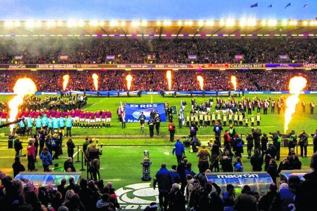A packed Murrayfield watches the pre-match 'nonsense' ahead of Saturday's humiliating defeat against England. Picture: Alan Harvey/SNS Group/SRU