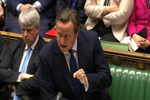 NATURAL DISASTER: David Cameron faced a stormy PMQs yesterday, but managed not to sink. Picture: PA