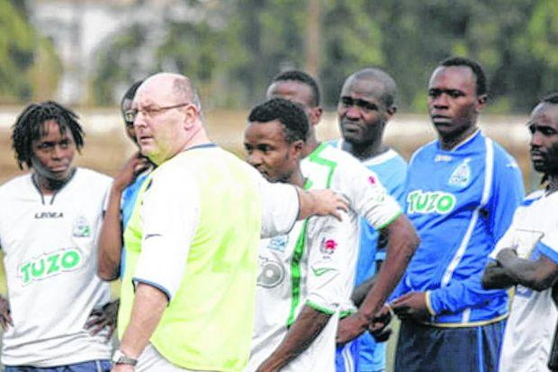 Williamson admits it is nice to put sun screen on for training rather than 'root around for a hat, gloves and winter jacket'. Picture: Gor Mahia website