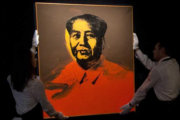 A triumph for capitalism: Warhol's canvas of Mao Tse-tung fetches £7.6m