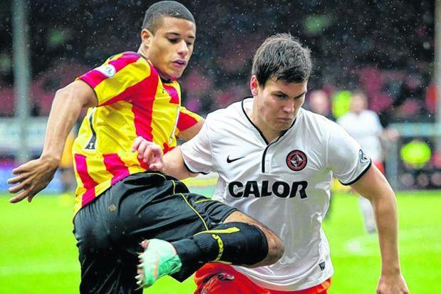 Curtis Good in action for Dundee United against Partick Thistle earlier this month. Picture: SNS