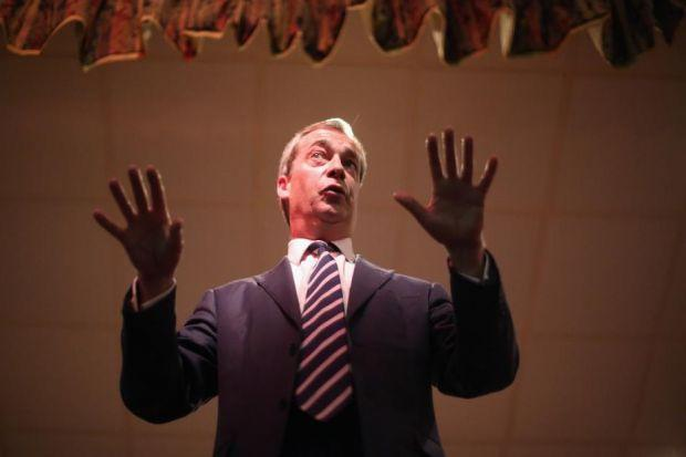 Nigel Farage, above, fired Lord Monckton after trouble over the European election selection processPhotograph: Getty Images