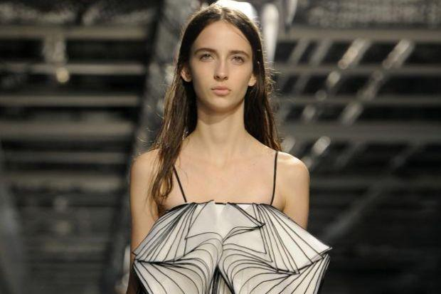 Models sported a number of Christopher Kane's designs.