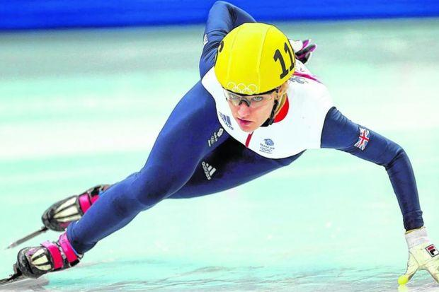 Elise Christie qualified with ease in the 1000m short track skating. Picture: David Davies/PA