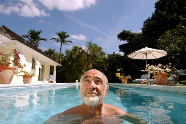 PURSUED: Sir Sean, seen relaxing at his home in Barbados, has long denied that he had any relationship with former corrupt mayors of Marbella.