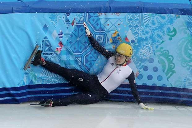 Third time unlucky: Scot Elise Christie misses out on speed skating medal after being penalised again