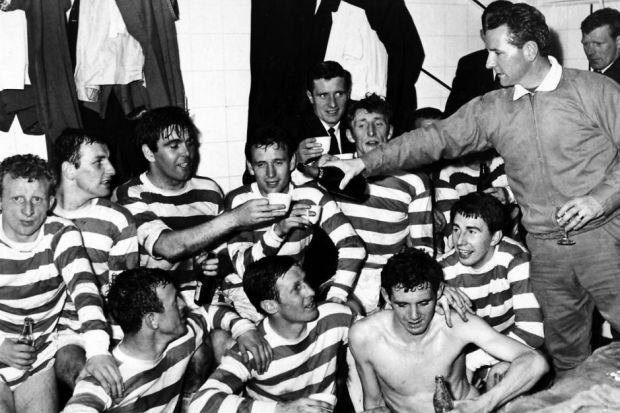 When going for their third of nine titles in a row, Celtic under Jock Stein had a tougher test. Picture: Archive