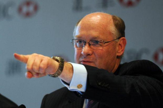 FOCUS: HSBC chairman Douglas Flint says the bank achieved good progress in targeted markets. Picture: Mike Clarke
