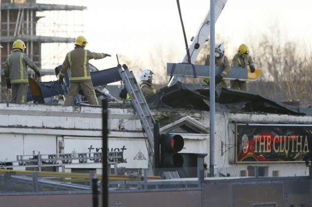 ACCIDENT: The helicopter crashed into the roof of the Clutha pub, killing 10 people.