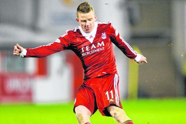 Jonny Hayes is the first player to beat Fraser Forster in the league since November. Picture: SNS