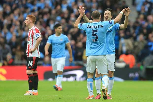 Manchester City 3 Sunderland 1: City win Capital One Cup final