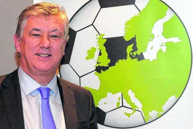 Peter Lawwell in Barcelona yesterday after being appointed to the board of the European Club Association, joining the likes of Karl-Heinz Rummenigge, Umberto Gandini and Ivan Gazidis