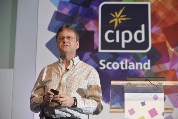 FREE-THINKING: Google's Stephan Thoma made an address at the CIPD conference. Picture: Jamie Simpson
