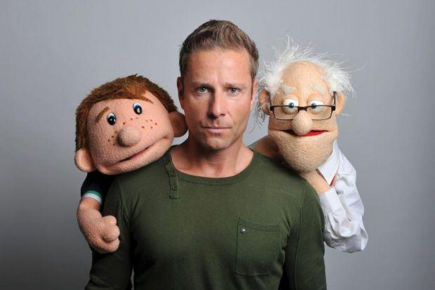 TIght-LIPPED: Paul Zerdin does a grand job of supporting Stewart at his King's Theatre show.
