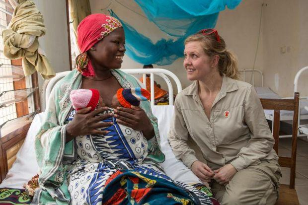 Ashley Jensen learns about the work being done at Mtwara Regional Hospital. Photographs: Jordi Matas