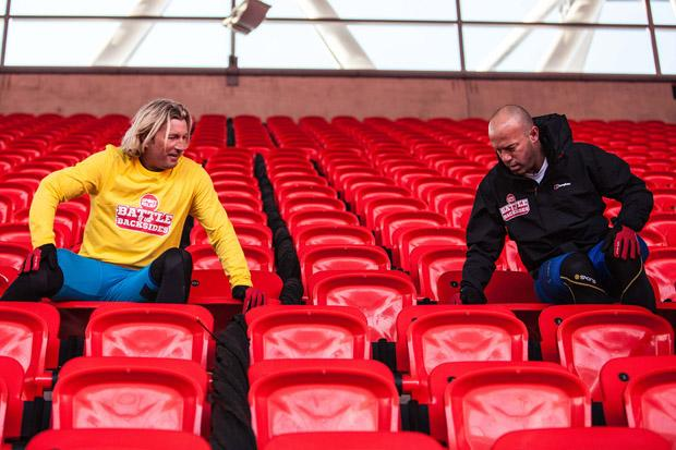 Shearer and Savage take on pain in the bum Sports Relief challenge