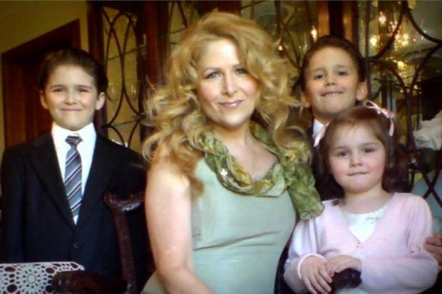 HORROR: US-born Theresa Riggi killed her three children, twins Austin and Gianluca, eight, and Cecilia, five, in 2010.