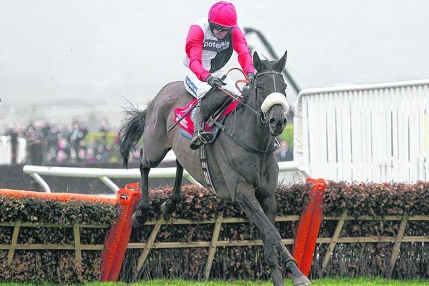 Big Buck's on his way to another victory in the 2012 World Hurdle. He chases a fifth today. Picture: PA