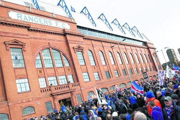 Rangers supporters reacted strongly in opposition to the club's former PR adviser.Picture: Bill Murray/SNS Group