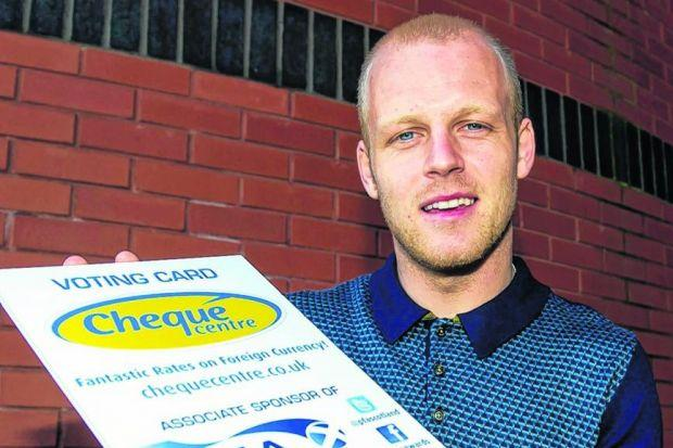 NAISMITH: the Everton attacker was promoting Scotland's player  of the year award. Picture: SNS