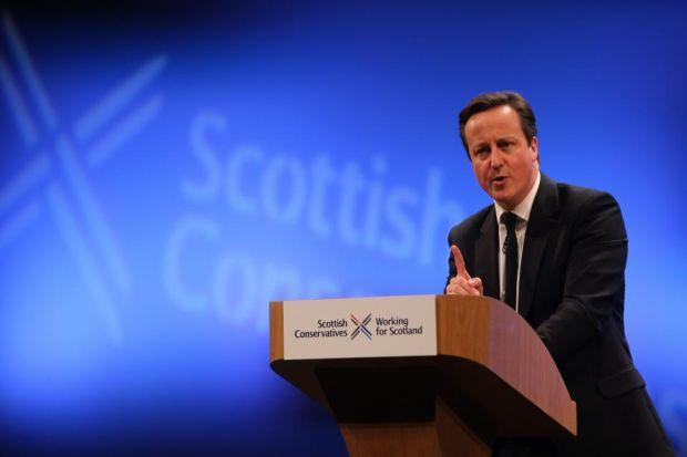 PROMISE: David Cameron said a No vote would not be the end of the line for devolution. Picture: Gordon Terris