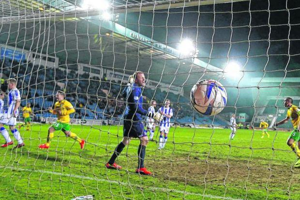 Kilmarnock's Craig Samson can only watch as Kris Commons scores his second goal. Picture: SNS