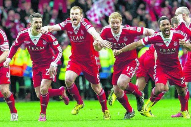 Aberdeen, a club renowned for losing their nerve, for choking and collapsing, win their first trophy for 19 years in the ultimate test of bottle: the penalty shoot-out
