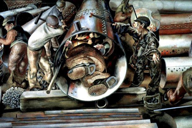 John Dodds was just a yung welder when he helped artist Sir Stanley Spencer to document wartime life and work in the shipyards of Port Glasgow.