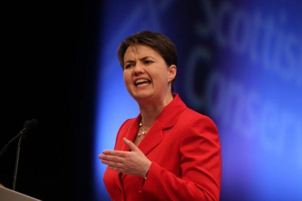 REACH OUT: Scots Tory leader Ruth Davidson used her speech to rally the party faithful. Picture: Gordon Terris